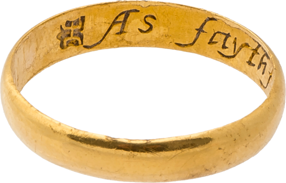 "Posy Ring ""As faythfull as frendly"" , early 17th century"