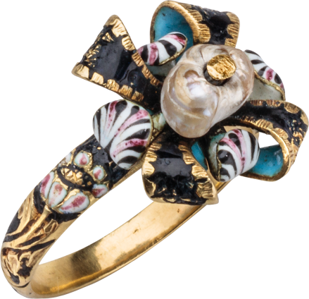 Love Ring with Bow and Flowers , c. 1650-1680