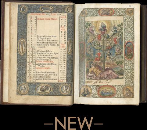 Officium B[eatae] Mariae Virginis, Nuper reformatum, et Pii V. Pont[ificis] Max[imis] iussu editum (Printed Book of Hours) , Antwerp, Christopher Plantin, 1575