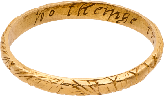 "Posy Ring, ""No Cheigne in Vertues Choyse"" , 16th-17th century"