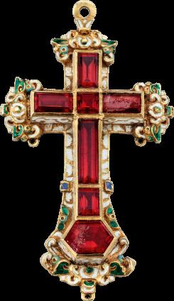 Renaissance Pectoral Cross Pendant , c. 1600