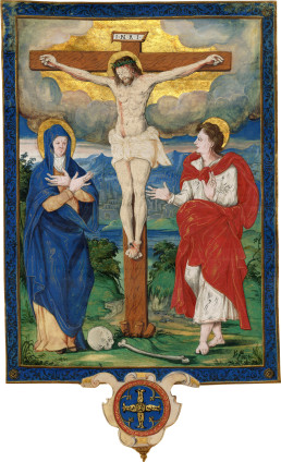 Anonymous Artist, Crucifixion with Mary and John, from a Missal , c. 1550