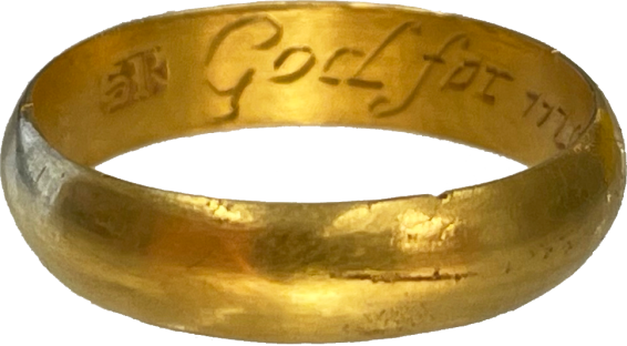 """Posy Ring """"God for me appointed thee"""" , England, 1700-1750"""