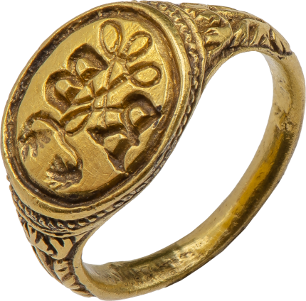 Signet ring with Initials RB , 16th century