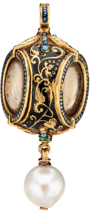 Reliquary Pendant with Pearl , c. 1620