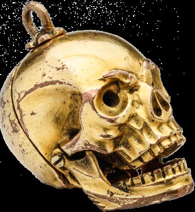 Memento Mori Skull Pendant , 17th century