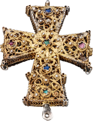 Reliquary Cross Pendant , 18th-19th century