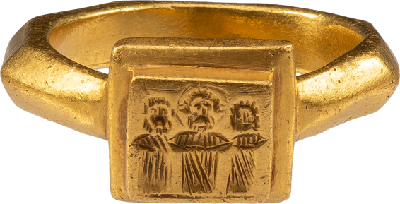 Byzantine Marriage Ring , 6th - 7th century AD