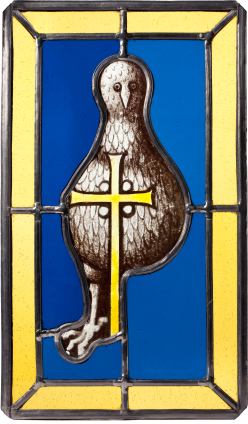 Stained Glass, Bird and Cross , c. 1450