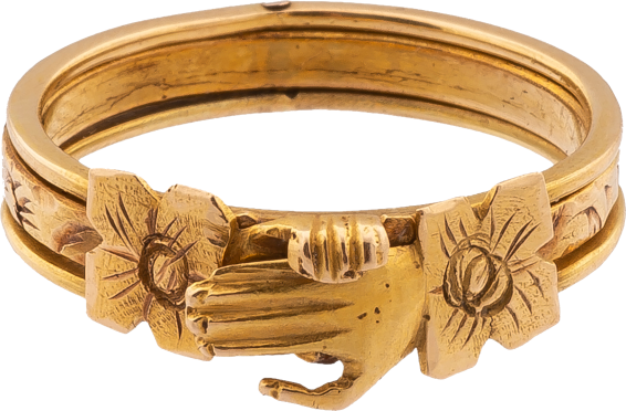 Gimmel/Fede ring , early 19th century