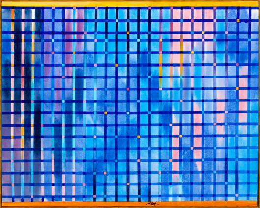 Heinz Mack, Gitter-Fenster (Chromatische Konstellation) [Lattice-Window (Chromatic Constellation)], 2005