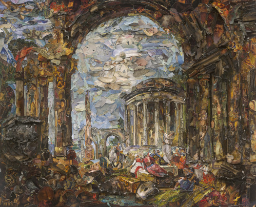 Vik Muniz, Preaching among the Ancient Ruins, after Giovanni Paolo Panini (Afterglow), 2017