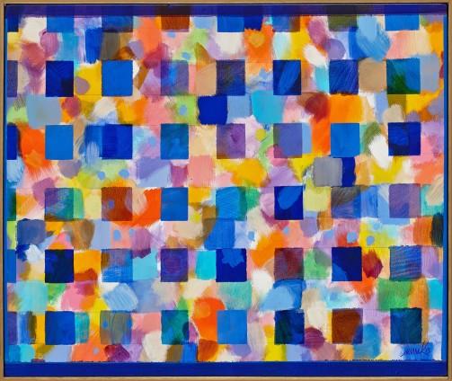 Heinz Mack, Ohne Titel (Chromatische Konstellation) [Untitled (Chromatic Constellation)], 2013