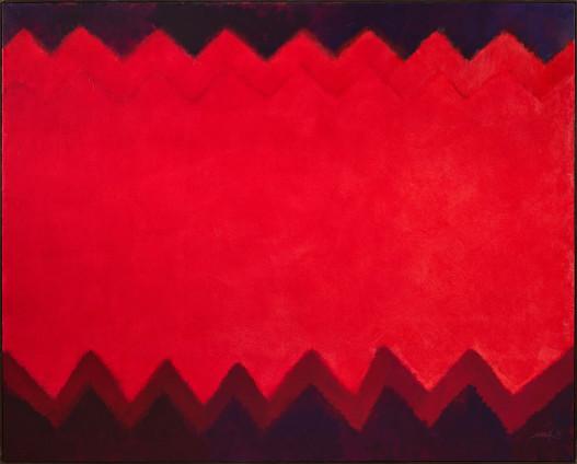 Heinz Mack, Feuer-Teppich (Chromatische Konstellation) [Fire-Carpet (Chromatic Constellation)], 1993