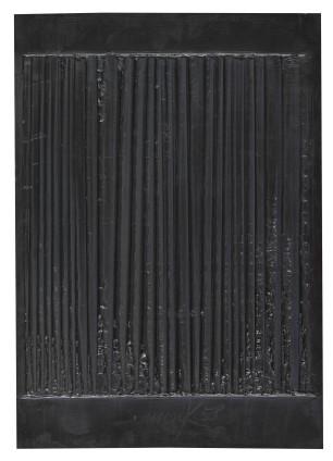 Heinz Mack, Schwarze Vibration [Black Vibration], 1958
