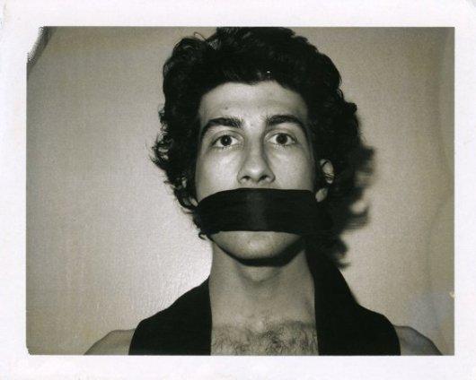 Robert Mapplethorpe  Untitled (David Croland), 1972  Polaroid  10.9 x 13.4 cms / 4 1/8 x 5 1/4ins