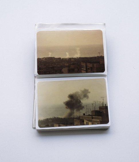Untitled. Akram Zaatari's mini album displaying photos of summer 1982, 2007