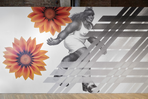 Slanted Tartan Wallpaper, 2019