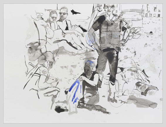 Bathers with Cops, 2018