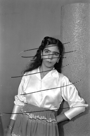 Damaged Negatives: Scratched Portrait of an anonymous woman, 2012