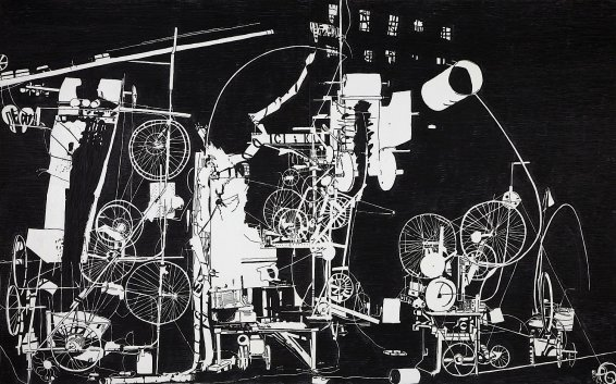 H.2.N.Y. Tinguely Machine Erases its own Construction in 27 Minutes, 2007