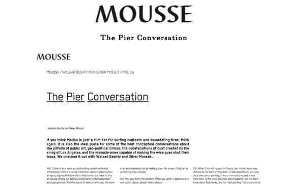 The Pier Conversation