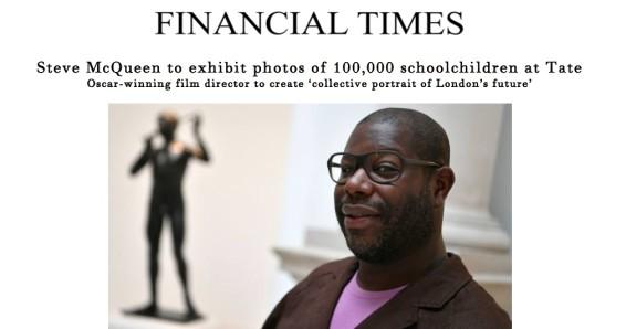Steve McQueen to exhibit photos of 100,000 schoolchildren at Tate