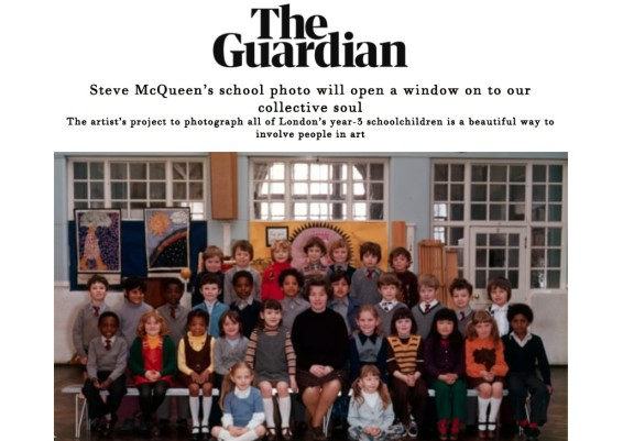 Steve McQueen's school photo will open a window on to our collective soul