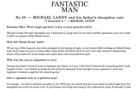 No 53 — MICHAEL LANDY and his father's sheepskin coat