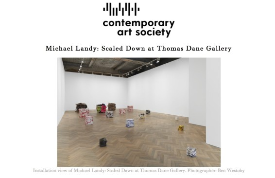 Michael Landy: Scaled Down at Thomas Dane Gallery