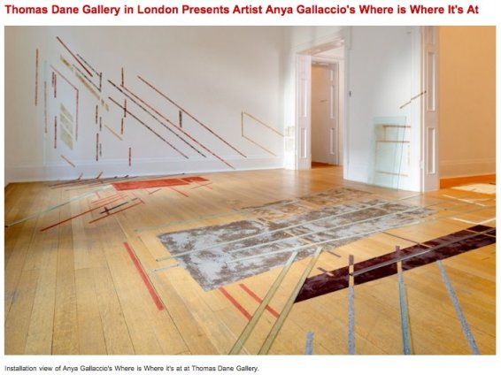 Thomas Dane Gallery in London Presents Artist Anya Gallaccio's Where is Where It's At