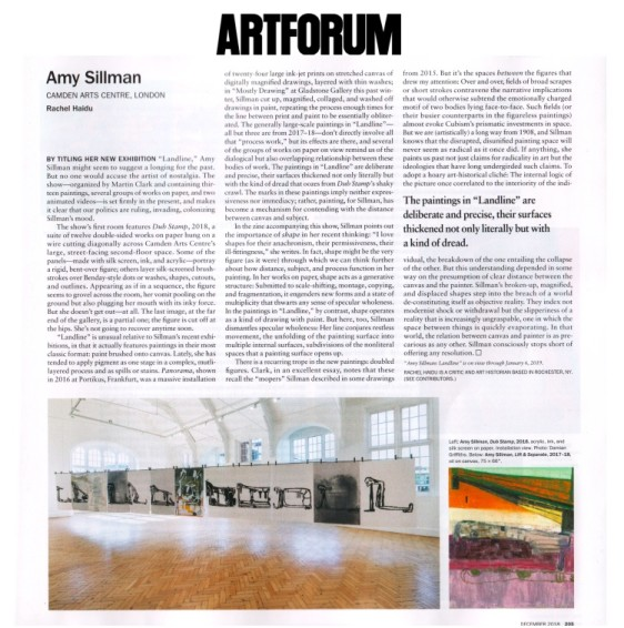 Reviews: Amy Sillman