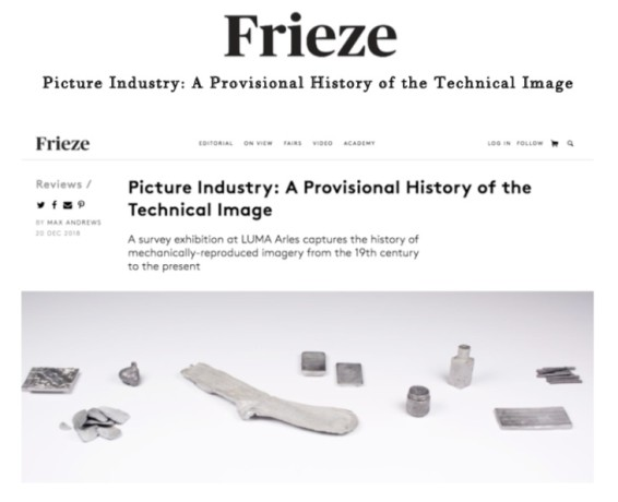 Picture Industry: A Provisional History of the Technical Image