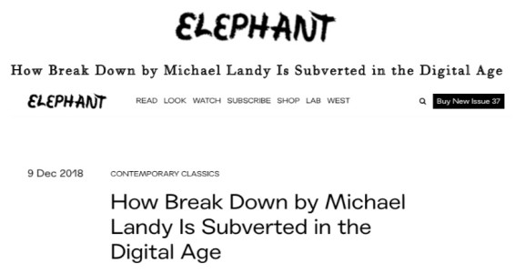 How Break Down by Michael Landy Is Subverted in the Digital Age