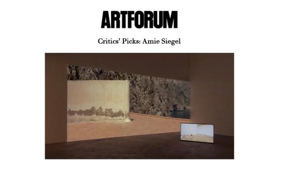 Critics' Picks: Amie Siegel