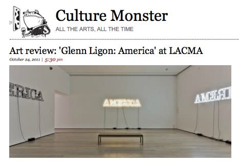 Art review: 'Glenn Ligon: America' at LACMA