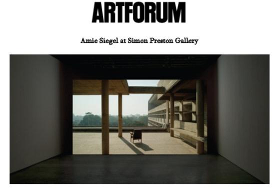 Amie Siegel at Simon Preston Gallery