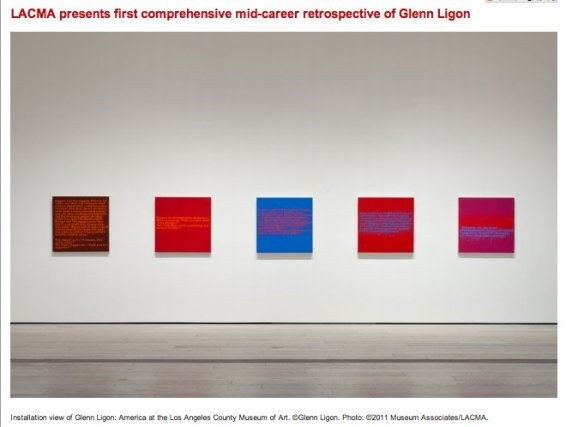 LACMA presents first comprehensive mid-career retrospective of Glenn Ligon Installation view