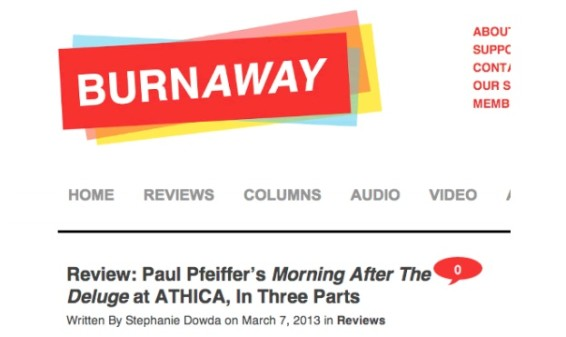 Review: Paul Pfeiffer's Morning After The Deluge at ATHICA
