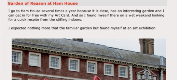'Garden of reason' at Ham House