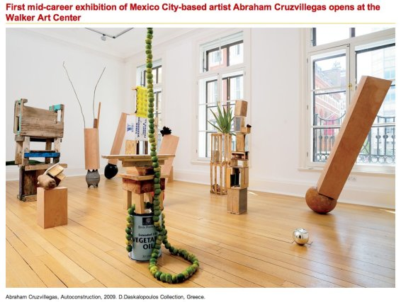 First mid-career exhibition of Mexico City-based artist Abraham Cruzvillegas opens at the Walker Art Center