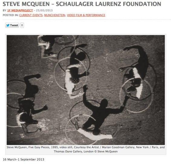 STEVE MCQUEEN – SCHAULAGER LAURENZ FOUNDATION