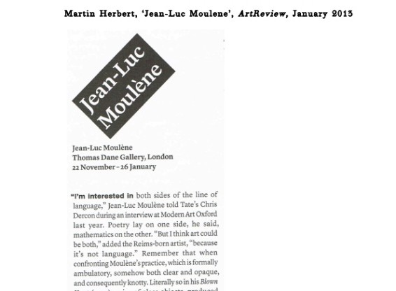 Jean-Luc Moulène: exhibition review
