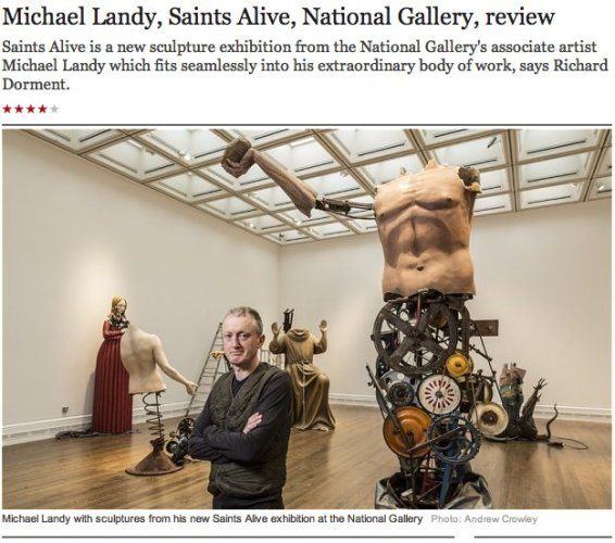 Michael Landy, Saints Alive, National Gallery, review