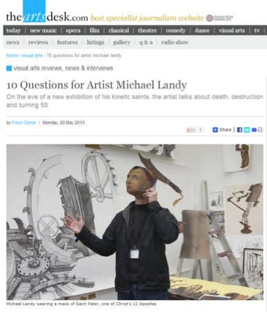 10 Questions for Artist Michael Landy
