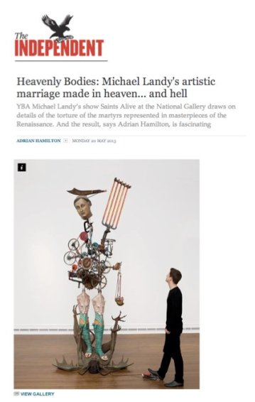 Heavenly Bodies: Michael Landy's artistic marriage made in heaven... and hell