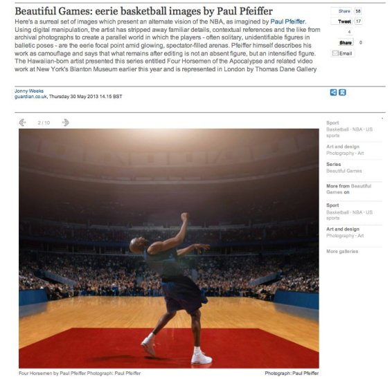 Beautiful Games: errie basketball images by Paul Pfeiffer