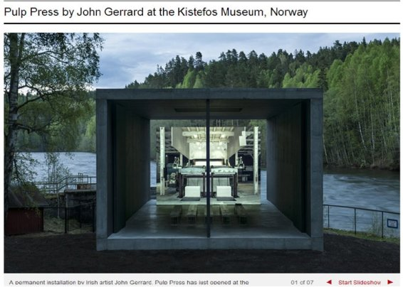 'Pulp Press' by John Gerrard at the Kistefos Museum, Norway