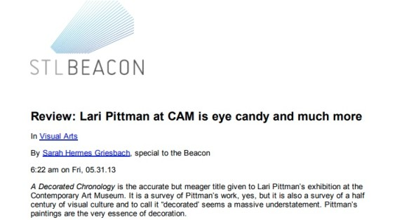 Review: Lari Pittman at CAM is eye candy and much more