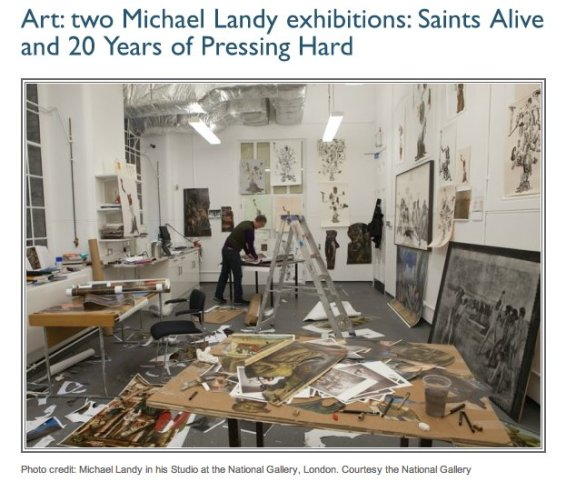 Art: two Michael Landy Exhibitions – 'Saints Alive' and '20 Years of Pressing Hard